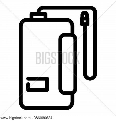 Cord Power Bank Icon. Outline Cord Power Bank Vector Icon For Web Design Isolated On White Backgroun
