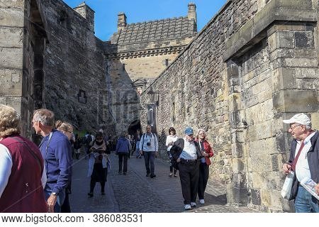 Edinburgh, Great Britain - September 10, 2014: This Is A Passage From The Outer Gate Of The Castle T