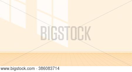 Wall Room Orange Pastel Color With Light Shine From Window, Wall Interior Of House Living Room, Inte