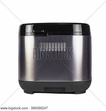 Bread Maker Isolated On White Background. Home, Electronic, Programmable Bread Baker.