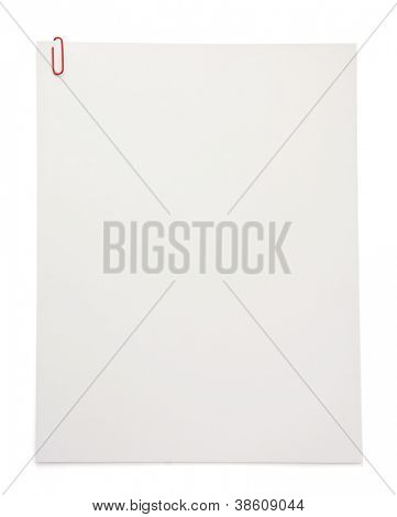 paper blank sheet isolated on white background