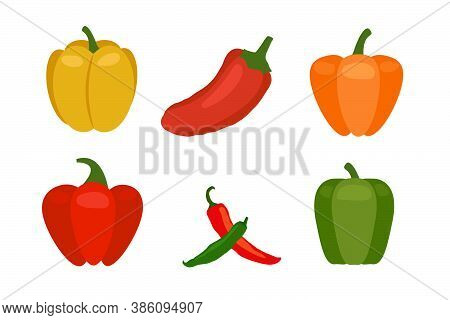 Hot Chili Or Jalapeno Pepper Flat Vector Icon For Apps And Websites.