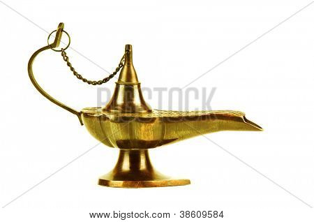 alladin lamp isolated on white