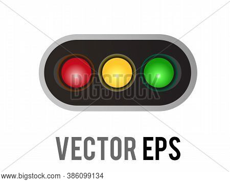 Vector Horizontal Left And Right Road Traffic Caution Light Signal Icon