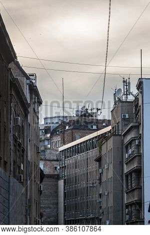 Typical Buildings Of The Stari Grad District Of Belgrade, Serbia, The Historical Center Of The City,