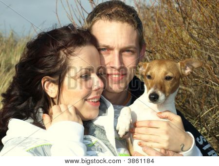 A Couple And There Jack Russel
