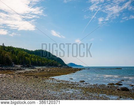 Beautiful Day On The Shores Of Saint Lawrence River, Bic National Park, Quebec, Canada