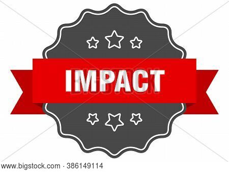 Impact Label. Impact Isolated Seal. Sticker. Sign