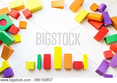 Colorful Constructor, Logic Game, Cubic Mosaic.the Concept Of Logical Thinking, Geometric Shapes. Th