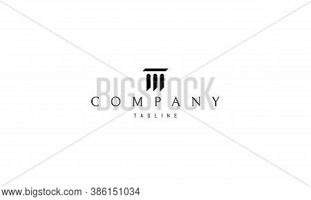 Vector Logo On Which An Abstract Image Of An Arched Bridge With White Space Applied.