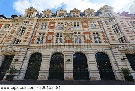 Paris, France - August 30, 2020 : The Historic Building Of Headquarters Of The Paris Fire Brigade Lo