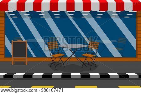 Cafe And Restaurant Roadside Cafe In City