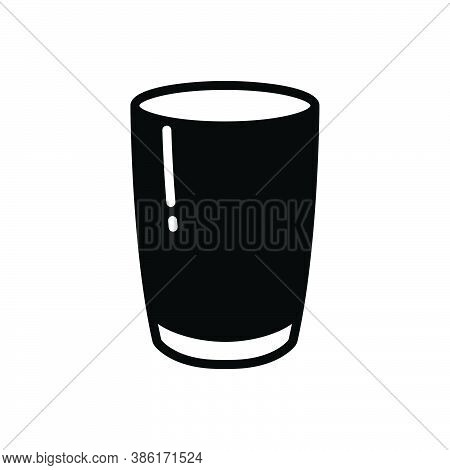 Black Solid Icon For Glass Sandblast Glasswork Water-glass Mug Drink Aqua Fragile