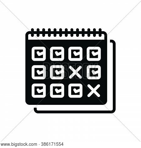 Black Solid Icon For Leave Holiday Vacation Leisure-time Calendar Date Month Week