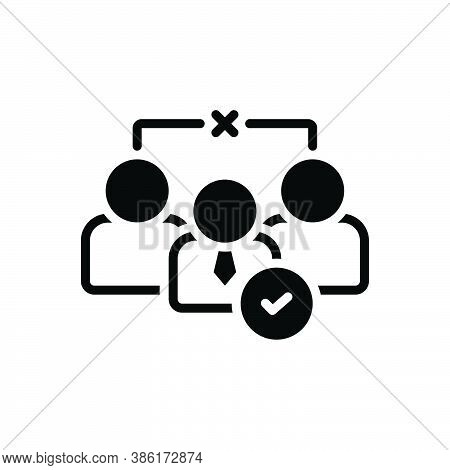 Black Solid Icon For Nomination Enrolment Select Employment Person Recruitment Choice