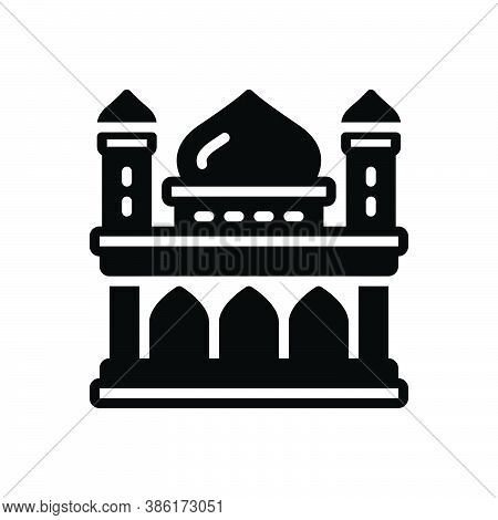 Black Solid Icon For Heritage Legacy Inheritance Heirloom Patrimony Ancient Building Architecture Ar
