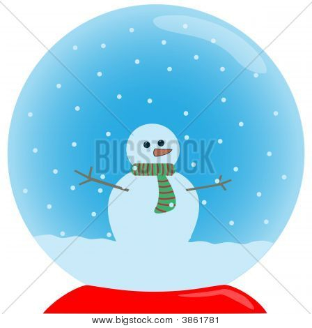 Chrystal Ball With Snowman