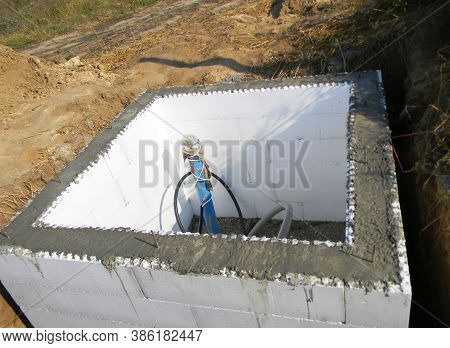 Constructing A Pump House, Pumping Station, Water Borehole Chamber From Insulating Concrete Forms Ic