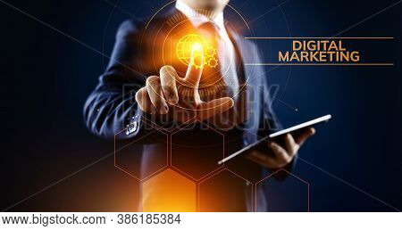 Digital Marketing Internet Advertising And Sales Increase Business Technology Concept.