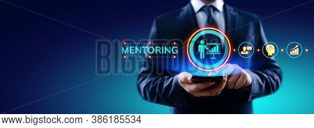 Mentoring Coaching Training Personal Development And Education Concept.