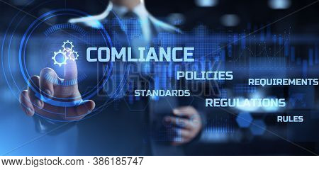 Compliance Law Rules Policy Regulation Business And Technology Concept.