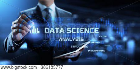 Data Science. Big Data Analysing Methods. Information Technology Concept.