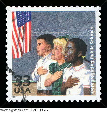 United States Of America, Circa 1999: A Postage Stamp Printed In Usa Showing An Image Of The Integra