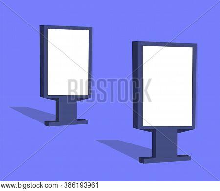 Vertical Outdoor Advertising Citylight.blank Template Outdoor Lightbox.