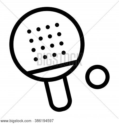 Ping Pong Game Sign Icon. Table Tennis Racket And Ball Icon Illustration.