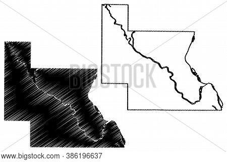 Louisa County, Iowa (u.s. County, United States Of America, Usa, U.s., Us) Map Vector Illustration,