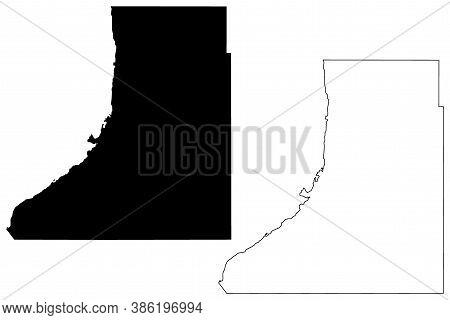 Traverse County, Minnesota (u.s. County, United States Of America, Usa, U.s., Us) Map Vector Illustr