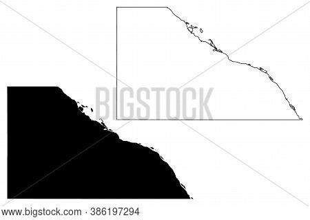 Winona County, Minnesota (u.s. County, United States Of America, Usa, U.s., Us) Map Vector Illustrat