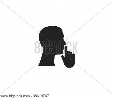 Mute, Quiet, Silence, Silent Icon. Vector Illustration, Flat Design.