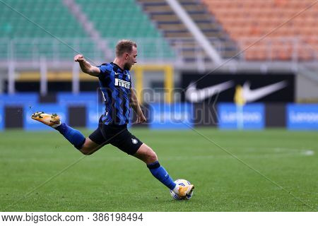Milano, Italy. 19th September 2020. Friendly Match.  Fc Internazionale Vs Pisa Uc. Christian Eriksen