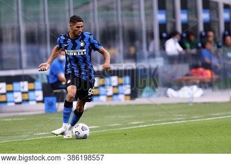 Milano, Italy. 19th September 2020. Friendly Match.  Fc Internazionale Vs Pisa Uc. Achraf Hakimi Of