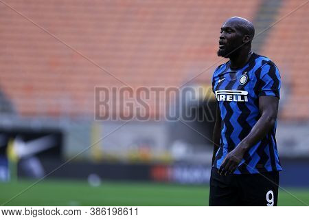 Milano, Italy. 19th September 2020. Friendly Match.  Fc Internazionale Vs Pisa Uc. Romelu Lukaku Of