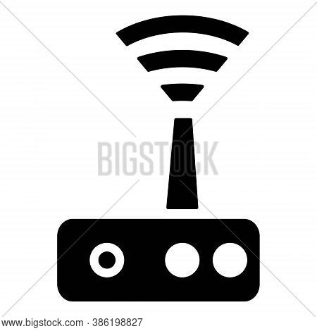 Wireless Router Icon. Modem, Switch Sign. Network, Internet Technology.