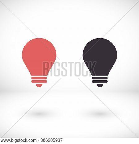 Lightbulb Icon 10 Eps. Lorem Ipsum Flat Design Jpg