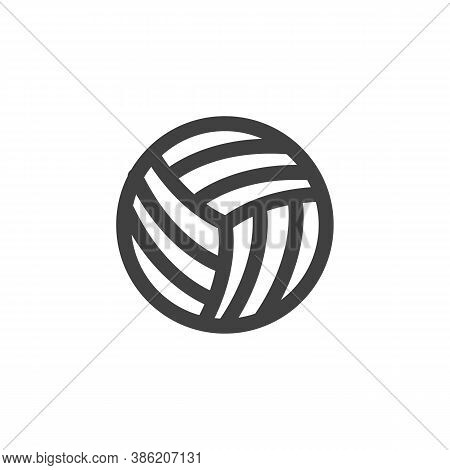 Volleyball Ball Line Icon. Linear Style Sign For Mobile Concept And Web Design. Volleyball Sport Out