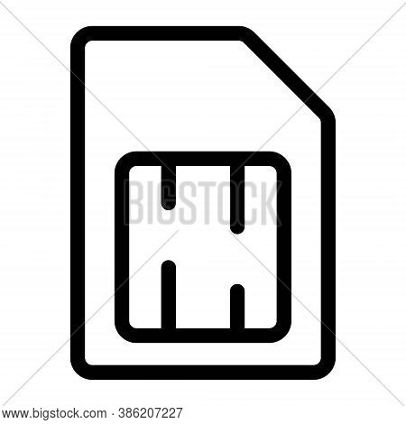 Sim Card Icon. Cellular Phone Electronic Chip Sign.