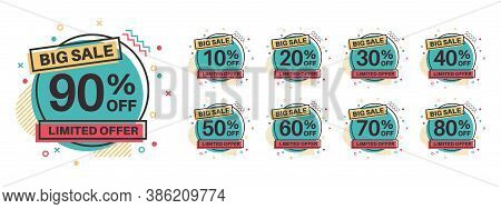 Sale Tags. Discount Badges 10, 20, 30, 40, 50, 60, 70, 80, 90 Percent Off. Retail Price Product Sale