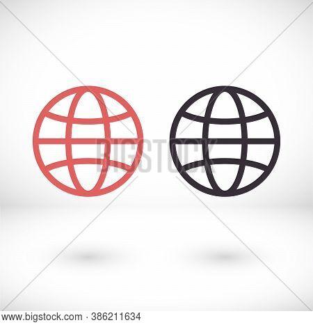 Globe Icon Vector. Lorem Ipsum Flat Design Jpg