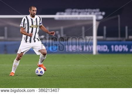 Torino, Italy. 20th September 2020. Italian Serie A. Giorgio Chiellini Of Juventus Fc During The Ser