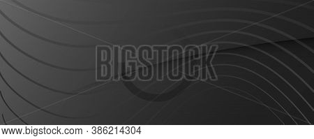 Gray Digital Background. Fluid 3d Layout. Vivid Gradient Lines. Business Digital Background. Vibrant