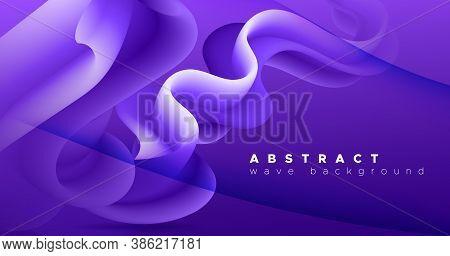 3d Fluid Vector. Neon Dynamic Motion. Vibrant Pattern. Color Trendy 3d Fluid Vector. Geometric Flow