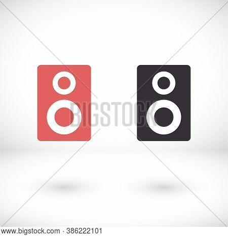 Vector Icon Loudspeaker, Design Illustration Loudspeaker. Flat Loudspeaker. Design Loudspeaker