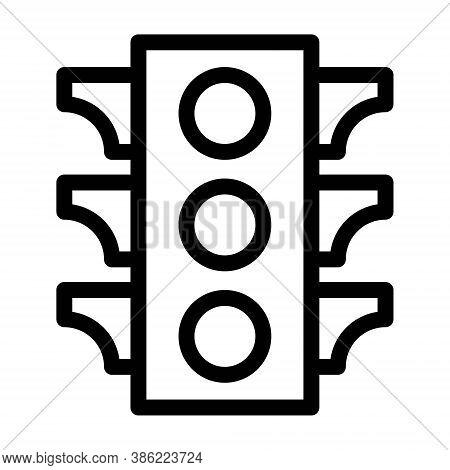 Traffic Lamps, Signal Lights Icon. Traffic Semaphore Symbol.