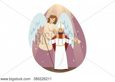 St. Isidores Day, Religion, Christianity, Bible Concept. Angel Biblical Religious Character Supporti