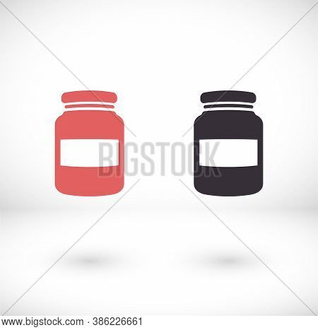 Honey Jar Icon . Vector Honey Jar . Illustration Honey Jar . 10 Eps Honey Jar . Simple Image Honey J