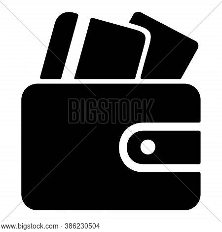 Wallet With Credit Cards Icon. Clutch Bag, Purse Icon. Online Payment Sign. Wallet Icon For Perfect